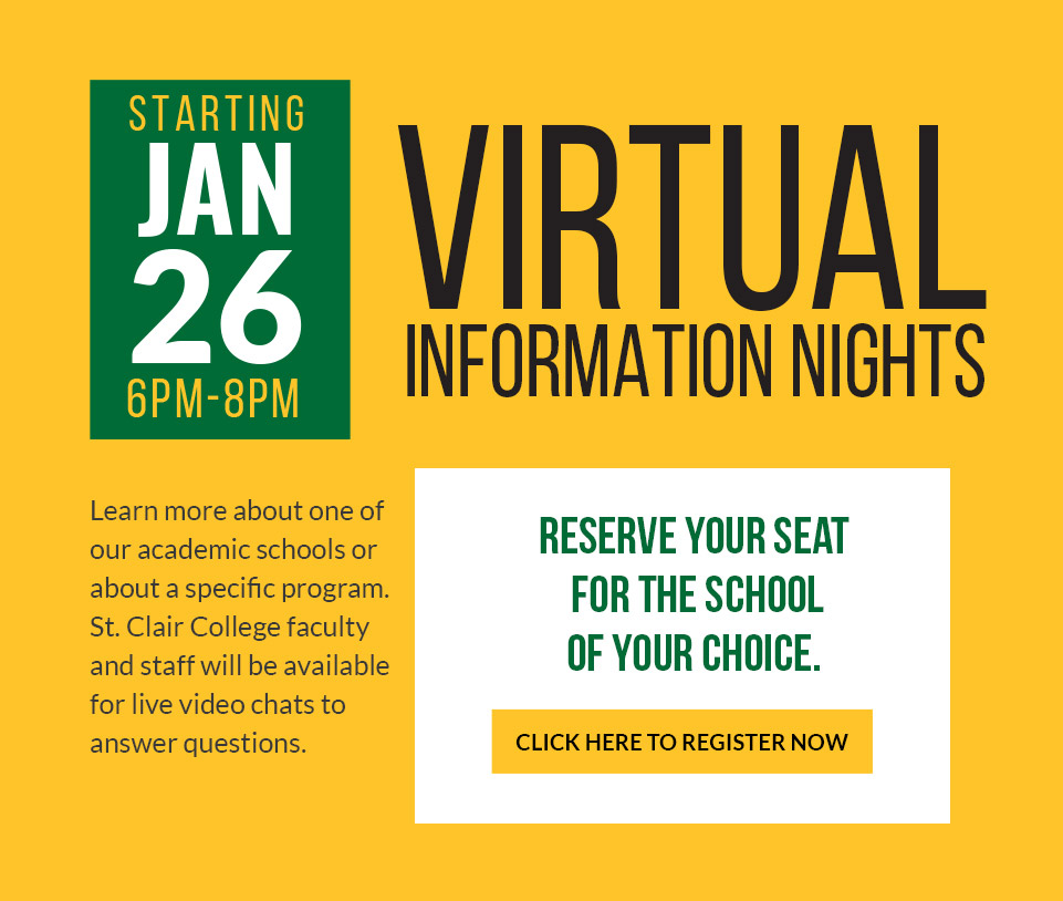 Virtual Information Nights - Jan. 26, 6-8